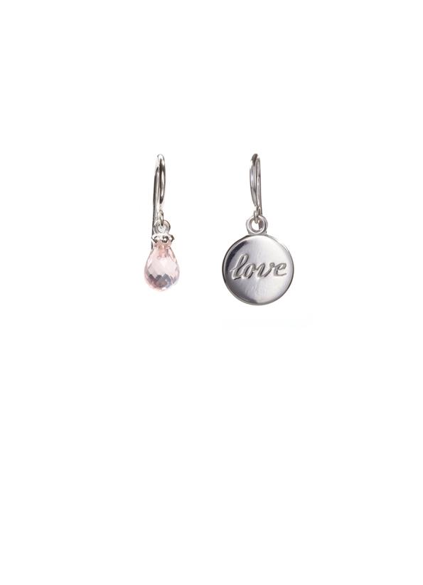 ebcb3dbb3 Sentimental no. 3: 'Love' Sterling Silver Pink Quartz Earrings ...